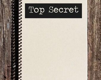 Top Secret Journal - Top Secret Notebook - Secret Diary - Sketchbook - My Secret Diary