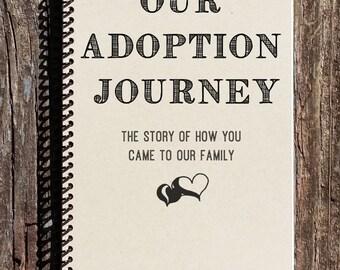 Adoption Journal - Adoption Notebook - Our Adoption Journey - Adoption Baby Book - Adoption Story