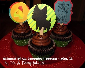 Wizard of Oz Cupcake Toppers -Wizard of Oz collection party goods