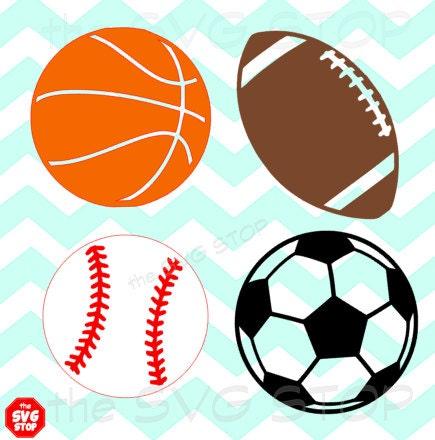 svg sports designs balls cricut etsy
