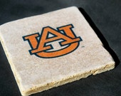 Stone Coaster Set Of 4, Auburn Fans-Gifts