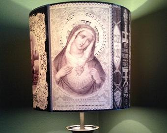 Antique Religious Biblical Art Inspired Lamp Shade 'ORNATEMENT'