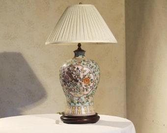 Chinese Ceramic Vase Lamp