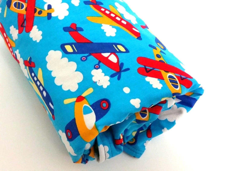 Minky Baby Blanket Airplane Baby Blanket Boy Baby Blanket