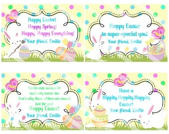 Personalized Easter Cards / printable easter cards / easter cards for kids / easter cards