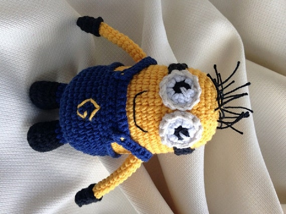 Items similar to Crochet Minion Toy Amigurumi Despicable ...
