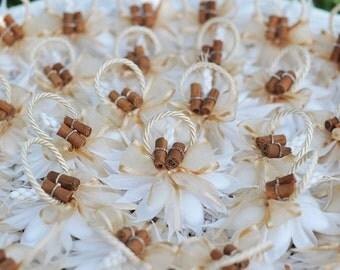 Vintage Wedding favor with a cinnamon...!