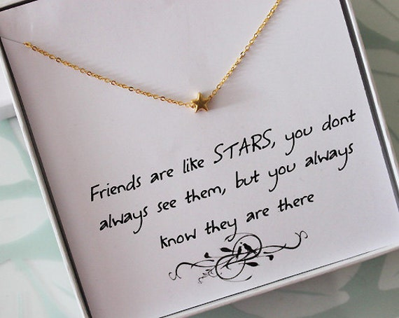 Wedding Gift Ideas For Friends Uk : ... Necklace, Jewelry gift for Sister, Thank you jewelry, best friend gift