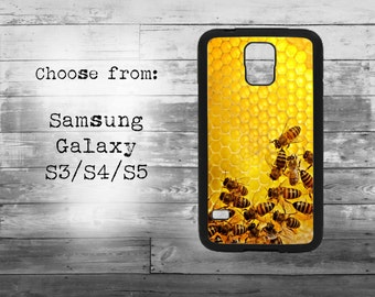 Honey bee phone cover for Samsung Galaxy S3/S4/S5/S6/S7/S7edge phone - bumblebee wax case for samsung galaxy phones