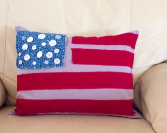 Patriotic Flag Pillow