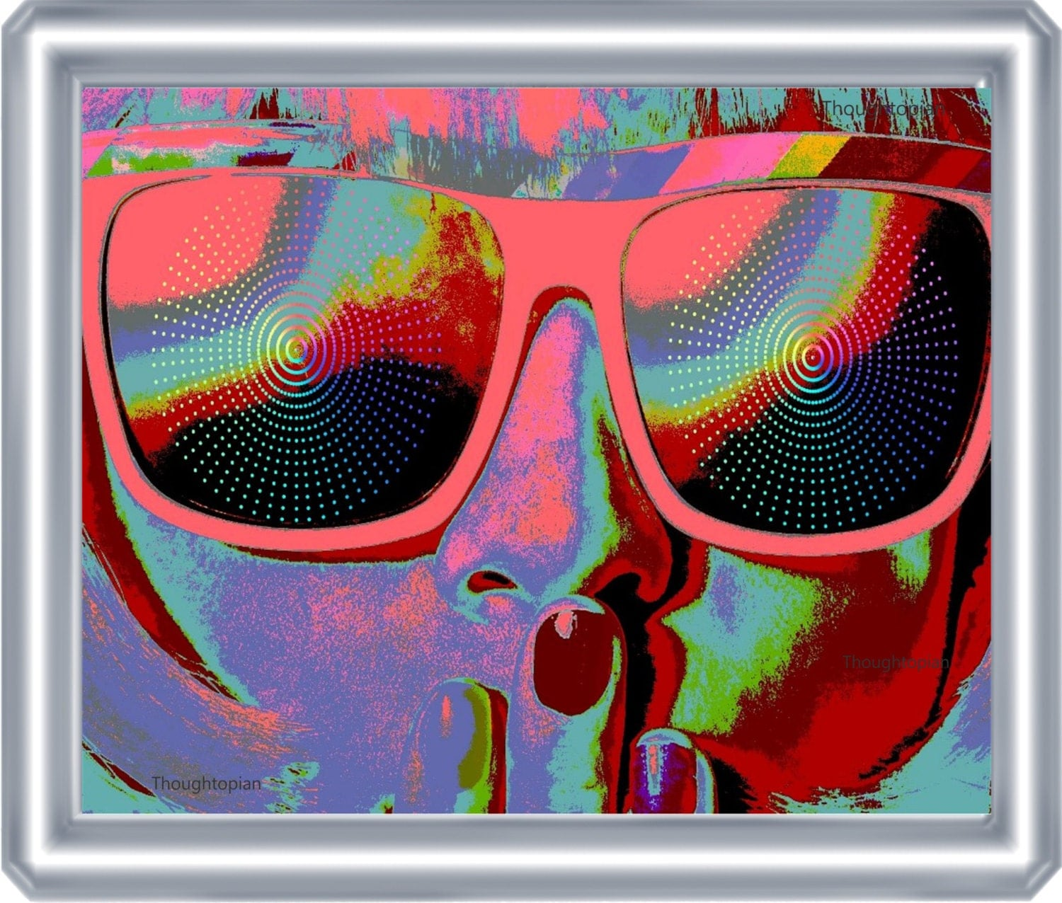 Sunglasses Trippy Art Print 8 x 10 Psychedelic Visionary