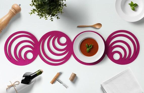 Fühlte mich Tisch Läufer-Kreis Home Decor Küchentisch von WOOOOMADE