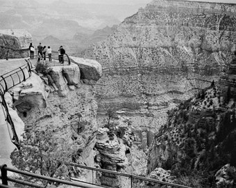 Landscape Photography-Grand Canyon. Black and white. Film image.