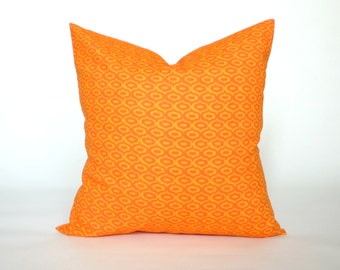 "Orange and Yellow Pillow Cover, Decorative Throw Pillow, Accent Pillow, Pillow Sham, Slip Cover, 14x14"", 16x16"", 18x18"", 20x20"""