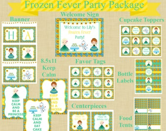 Frozen Fever Complete Party Package, DIY Party