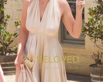 Convertible Infinity Dress Bridesmaid Dress Cameo / Ivory / Cream