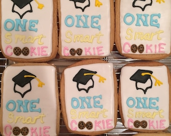One smart cookie - graduation cookies!