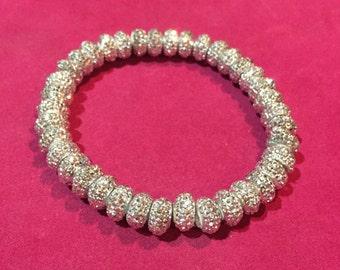 stretchy bling silver bracelet