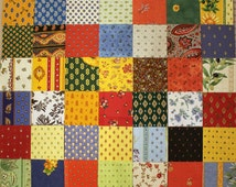 "Provence charm pack of authentic French cotton fabrics. 42 different 5"" squares"