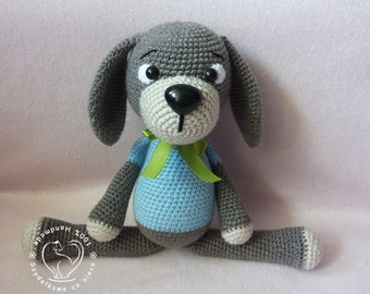 Lucky The Dog crochet pattern Amigurumi toy
