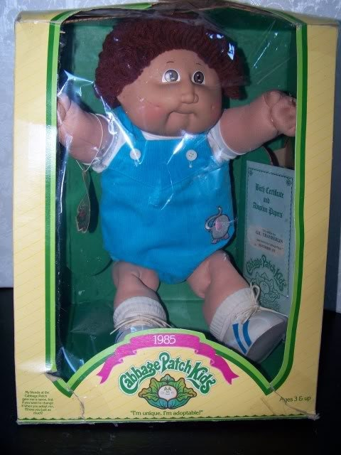 1985 Cabbage Patch Kids 16 Doll Mint In Box Coleco Boy