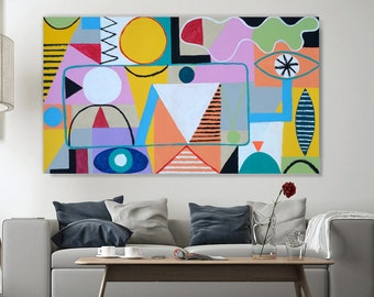 Abstract large painting Original Acrylic painting Abstract #4 from Art Factory Gallery