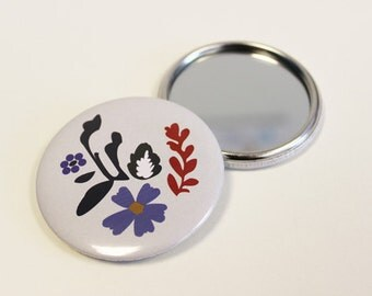 Various flowers pocket mirrors