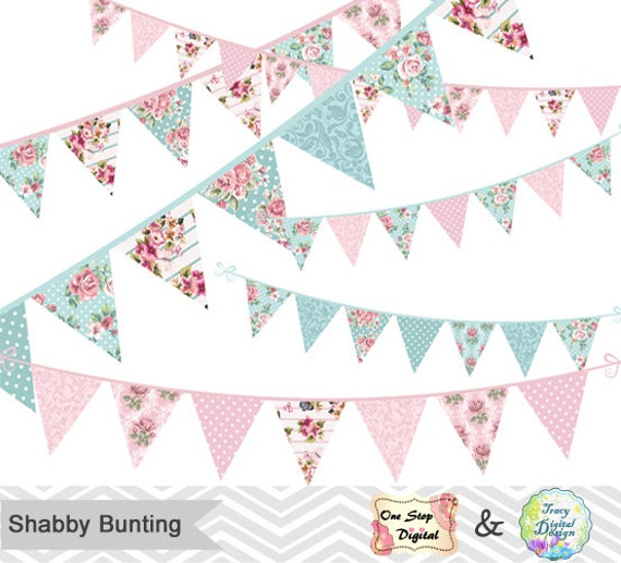 shabby chic bunting - photo #5