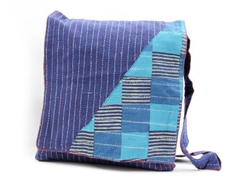 Blue Cotton Handmade Messenger bag Sling Handmade Shoulder Bag