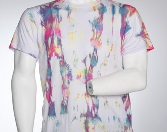 Pole Wound Shibori Multicolour Tie Dye Shirt Made to Order Custom Tie Dye T shirt