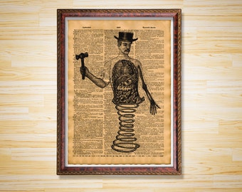 Human body poster Medical dictionary page Anatomy print