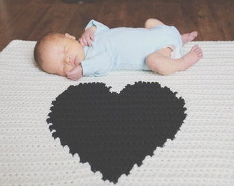 Crochet Heart Baby Blanket