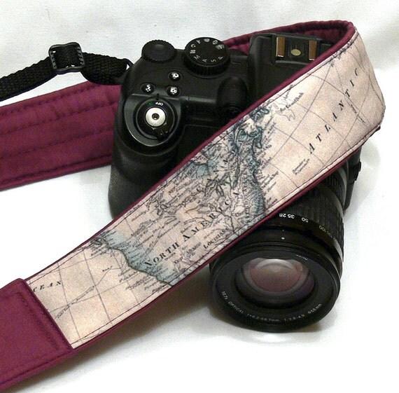 Camera Strap. Photo accessories. World Map Camera Strap. - photo#5