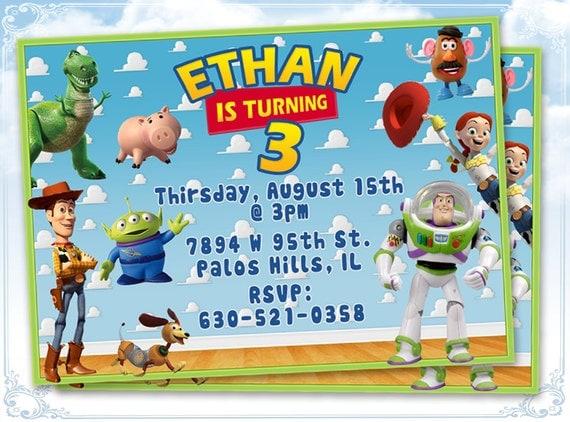 Printiable Toy Story Birthday Invitation Card 117