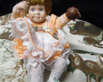 Danbury Mint Mini Amy with ice cream doll