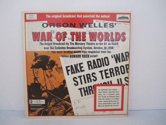 Orson Welles War Of The Worlds The Actual Broadcast By