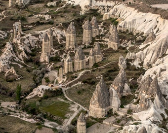 Cappadocia Photo, Fairy Chimneys, Travel Photography, Instant Download,