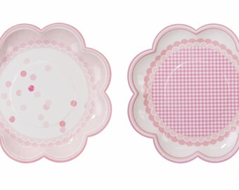 Paper Plates | Pink Party Plates | Pink Party | Plates | Party Plates | Baby Shower | 8 Per Pack | Baby Shower Plates | 1st Birthday Party