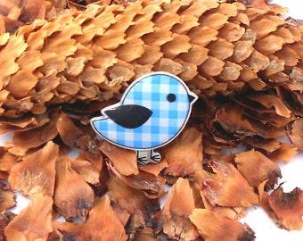 Free shipping Bluebird  brooch pin bird  brooch bird  jewelry  bird,  bird jewelry clay bird  clay pin  present gift