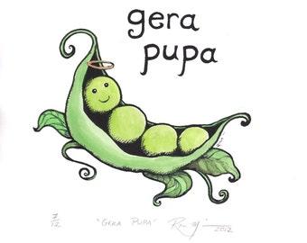 Lithuanian Art Gera Pupa Serigraph by Rima Macikunas