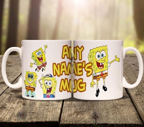 Personalised Spongebob Squarepants Mug Cup Print Any Name