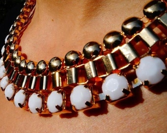 White Gold Statement Necklace