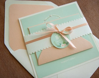 Modern Vintage Wedding Invitation Sample