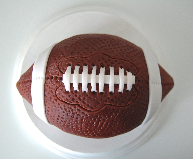 Fondant 3D Football Cake Topper