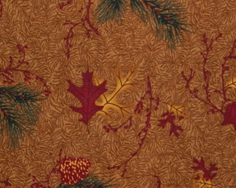 Moda Fabric ~ Camp Wilderness by Holly Taylor ~ Leaf and Pinecone fabric