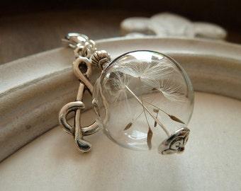 "Jewel Pendant ""Clef"" Dandelion"