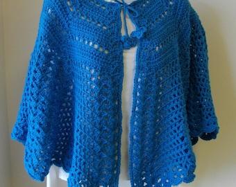 Crochet Pattern - Fleur-de-Lis Shoulder Cape