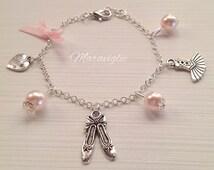Ballet Charm Bracelet, Ballerina Charm Bracelet, Bracciale Ballerina, Bracciale Danza