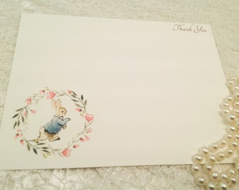 Baby Thank You Note Cards-Peter Rabbit Thank You Notes-Set of 10