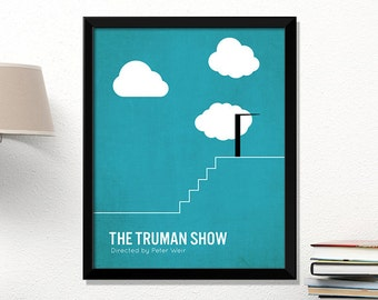 Truman Show movie poster, minimalist, cinema, Truman Show, contemporary art